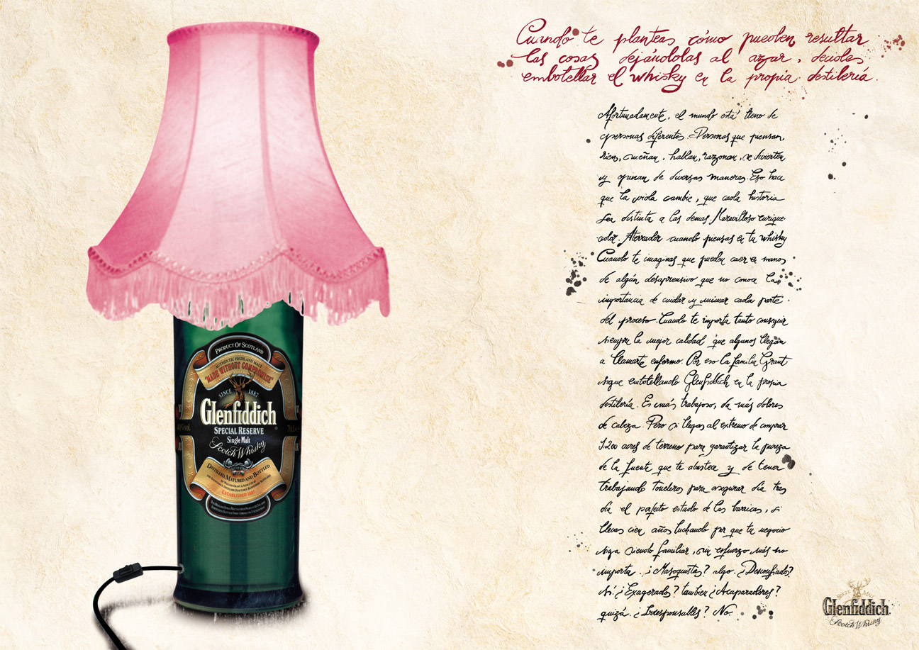 Glenfiddich Whisky - Lámpara