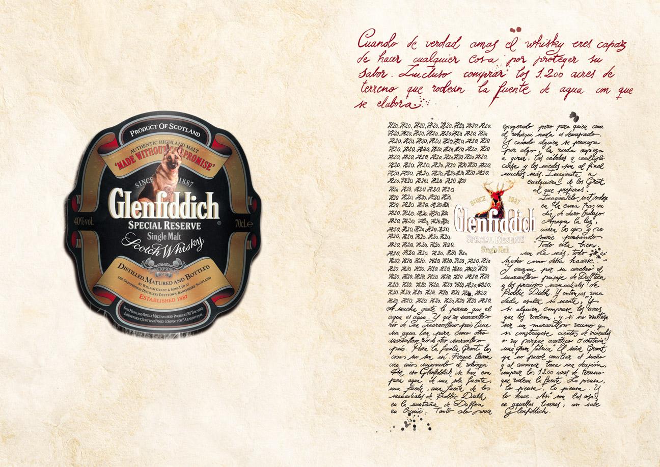 Glenfiddich Whisky - Pastor alemán