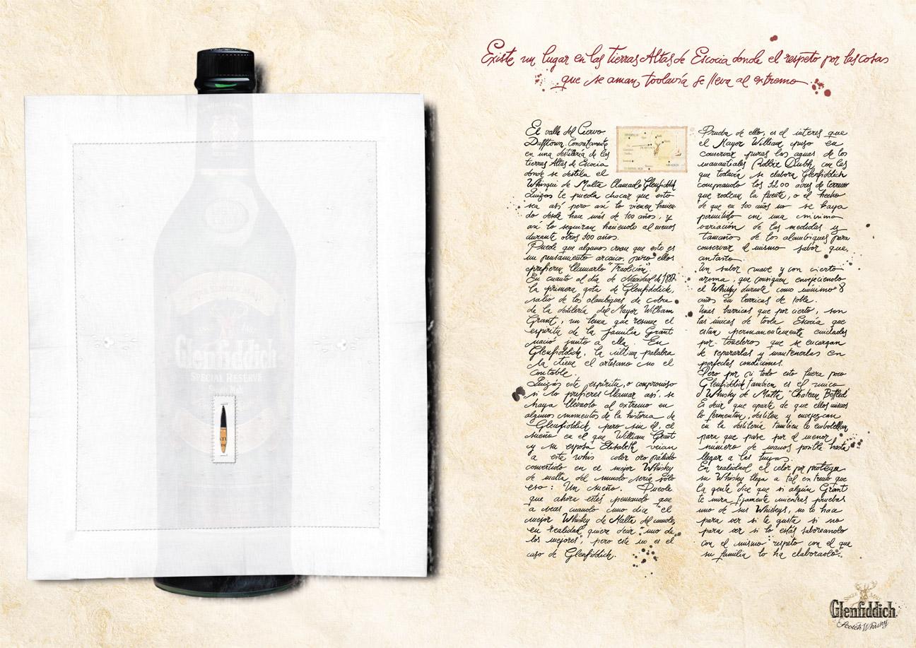 Glenddich Whisky - Sábana