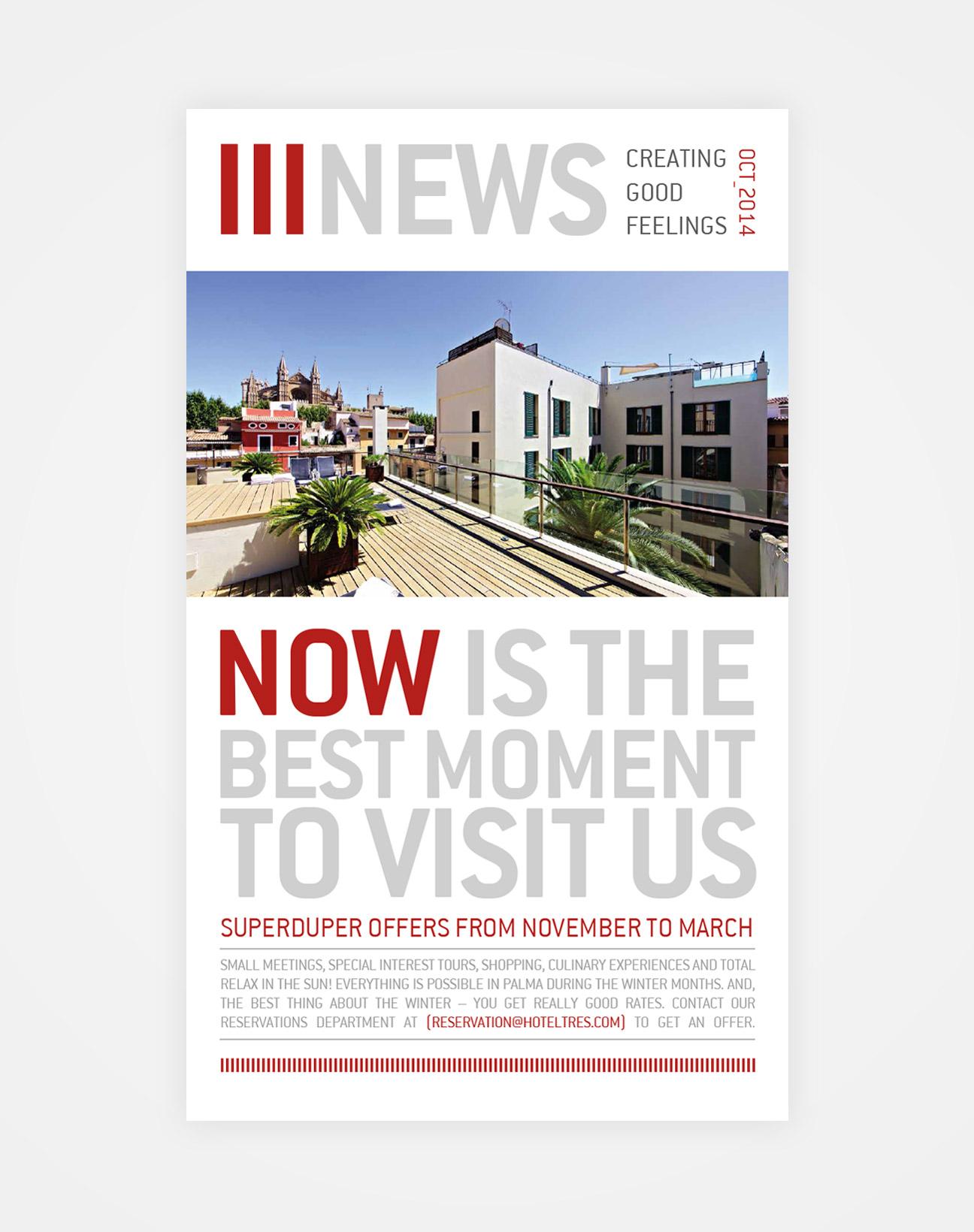 Hotel Tres - Newsletter